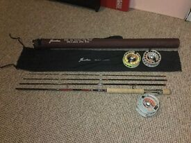 2 fly fishing rods + 2 reels