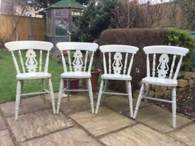 Fiddleback Chairs.....newly refurbished , painted in F&B