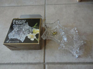 Brand new in box decorative crystal glass keepsake memory box London Ontario image 1