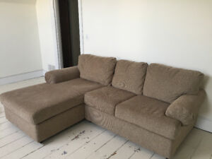 Like New Couch with Chaise Lounge