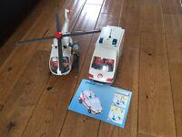 Playmobil ambulance with air ambulance