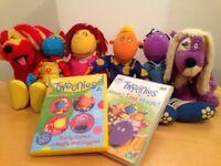 Tweenies soft toy bundle & 2 DVD's