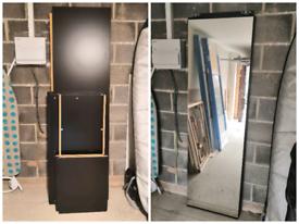 Wardrobe ikea morvik - sliding door mirror / clothes rail / shelves