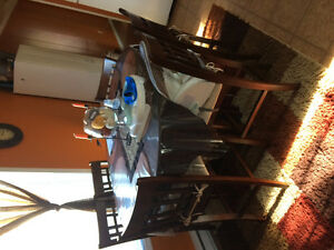 Pub style table and chairs