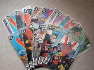 V - The Visitors Are Our Friends comic lot #1-18 DC 1985-86