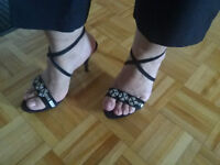 Talon haut noir avec diamands - Black high heel with diamonds