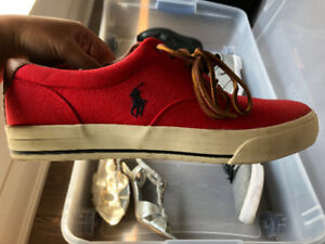 Red POLO sneakers size 10