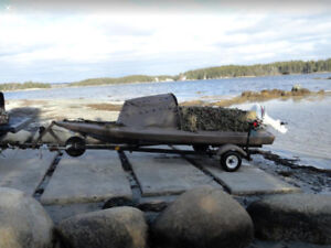 Broadbill 14' Duck Hunting Boat, Blinds and Trailer