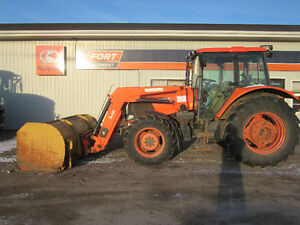 USED 2009 Kubota M110XDTC W/ Cab and Loader
