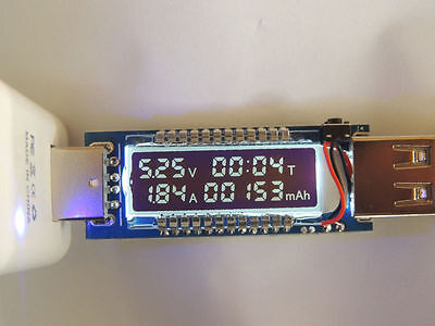 USB Charger Doctor Capacity time Current Voltage Detector Meter Battery Tester R