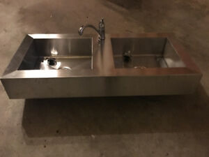 Industrial Sink - Double Stainless Steel (3 Pieces Avail.)