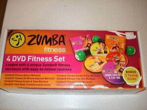 Zumba Fitness 4 DVD Set (still new)