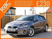2012 Lexus CT CT200h Hybrid SE-L Auto Bluetooth Full Leather Heated Seats Only 6