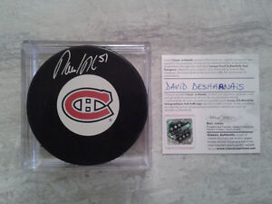 Rondelle autographié, Cartes de hockey et photo