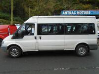 FORD TRANSIT 15 SEATER MINI BUS 350 LWB MEDIUM HIGH ROOF
