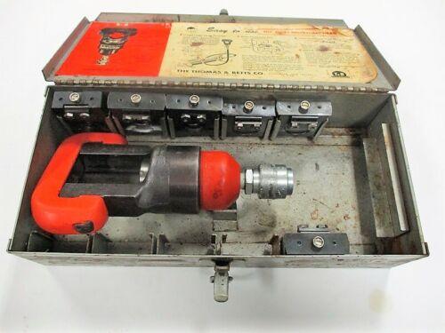 13642 Thomas & Betts T&B Hydraulic Crimp Tool Crimper Dies Insulated Terminals