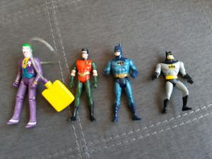 DC Action Figures. Joker Squirt Gun, Batman, Robin