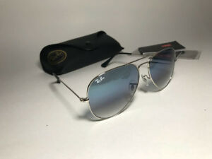Ray-Ban Aviator Silver Frame Gradient lens