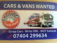 Cars and vans wanted