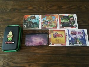 "Galaxy Edition ""New Nintendo 3DS XL"" with games and charger"