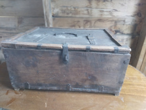 Antique primitive storage box - Used on set of Once Upon a Time