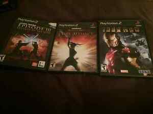 PS2 Star Wars EP 3 Revenge of the Sith, Iron Man, Dark Alliance