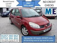 **£35 A WEEK** Renault Scenic 1.6 Authentique, 12M MOT, 5DR MPV, EW CD RCL