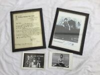 Rolling Stones copies of 1965 Bill Wyman letter & picture of Keith Richards. Plus original postcards