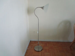 White and Silver Torch Lamp/ Floor Lamp/ Living Room Lamp