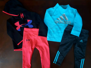 Under armour and adidas outfits  18 months