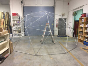 2V Geodesic dome, Geodome, Greenhouse, Shelter, Yoga studio