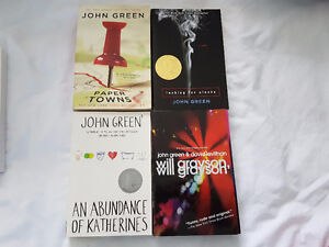 Set of 4 John Green books incl Paper Towns & Looking for Alaska