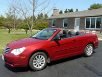 2010 Chrysler Sebring black Convertible
