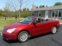 2010 Chrysler Sebring black Convertible