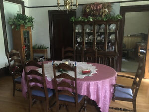 Antique dining table and hutch London Ontario image 2