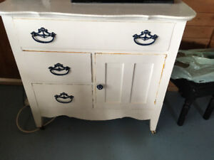 Nautical White Painted Cabinet