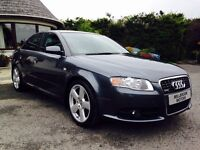 AUDI A4 2.0T FSI TURBO S LINE, F.S.H, STUNNING LOW MILEAGE EXAMPLE!!!