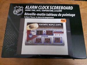 Maple Leafs Alarm Clock Scoreboard