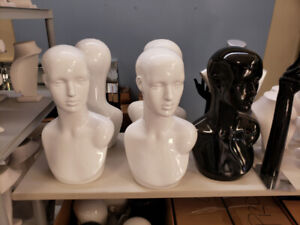 Jewelry forms, busts, mannequin torso's.  Jewellery displayers!