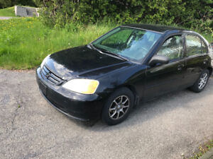 Honda Civic 2002 autom. Pieces ou route
