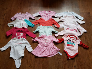 Size 3 to 6 month baby girl clothing lot
