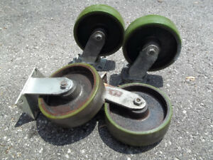 Casters,    10in casters 3500lb rating each.
