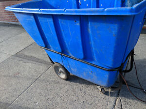 Garbage bin tilt truck dolly cart dumpster laundry flatbed