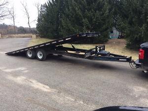 flatbed tilt deck trailer for rent