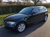BMW 1 SERIES 116i (1.6) ES - 5 DOOR - 2007 - BLACK ** LOW MILES**