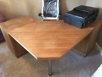 Large Solid Oak Corner Desk