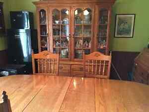 Roxton table, 6 chairs , buffet and hutch