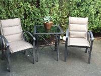 MARTHA STEWART Patio Table & 2 Chairs