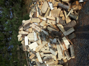 Seasoned firewood blocked and split