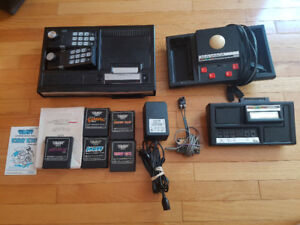 Colecovision, expansion module, trackball controller, and games